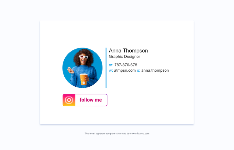email signature marketing trends for 2021 example 1