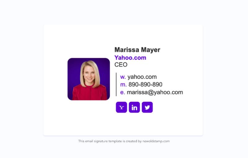 e-mail aláírás marketing trendjei 2021-re 11. példa