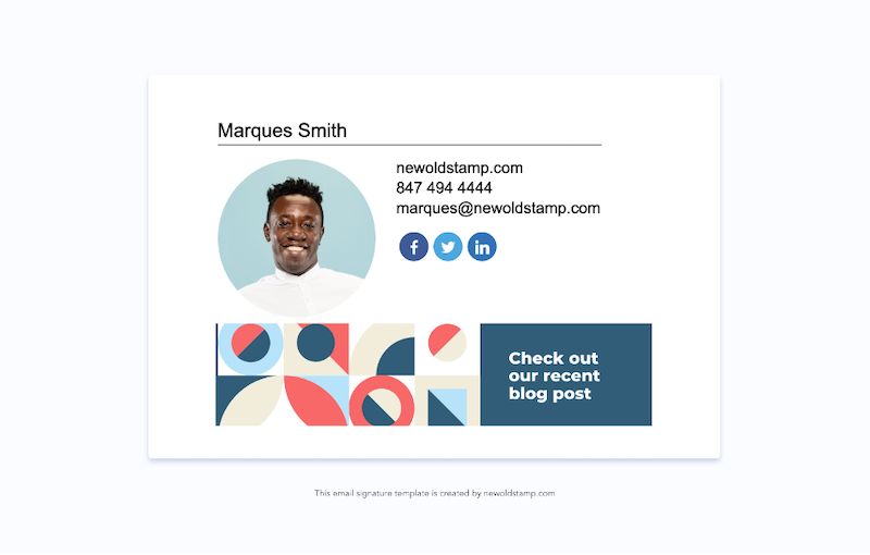 email signature marketing trends for 2021 example 4