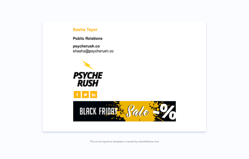 email signature marketing trends for 2021 example 9