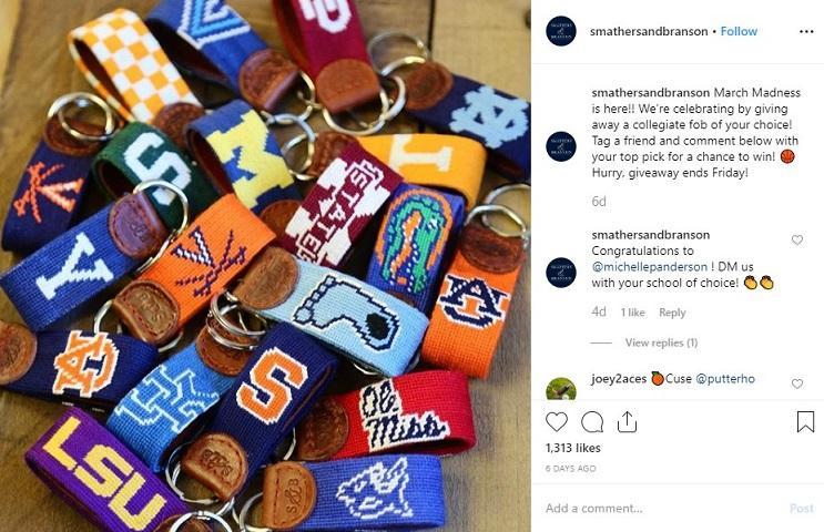 example of Instagram giveaway