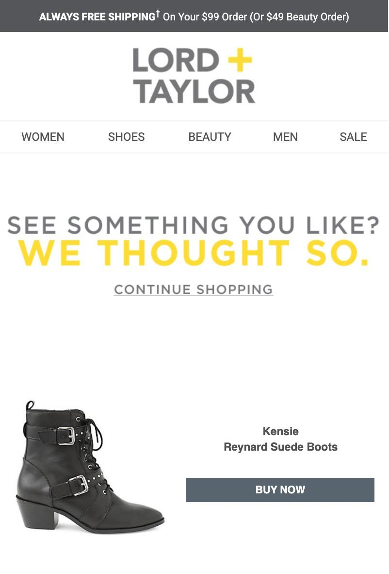 email marketing example from Lord & Taylor