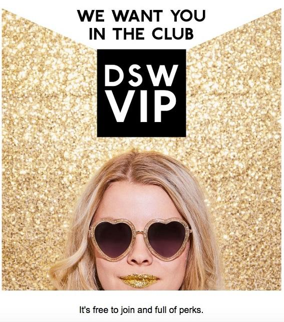 DSW VIP email
