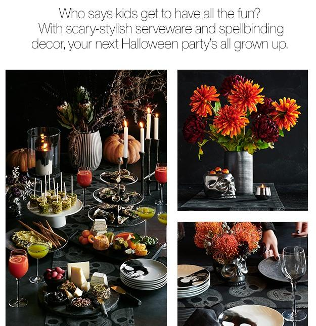 Crate & Barrel Halloween email with copy
