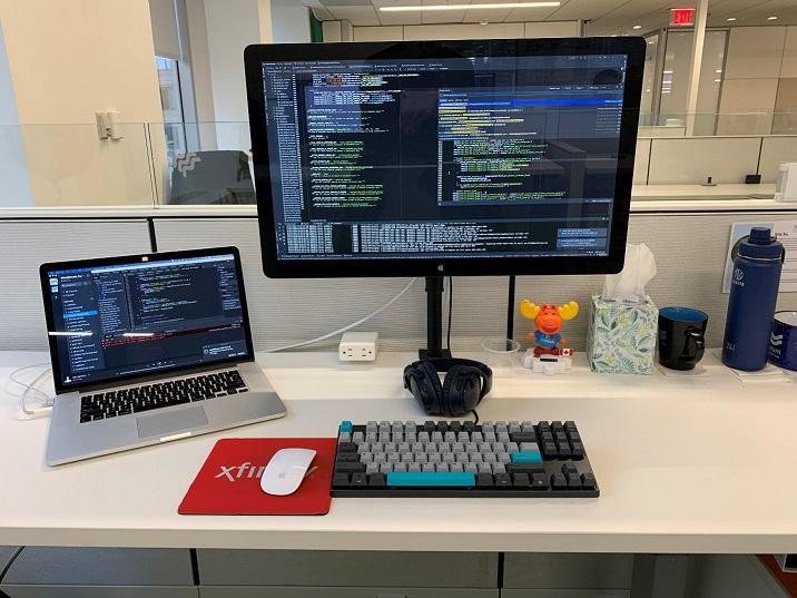 Eric's work desk