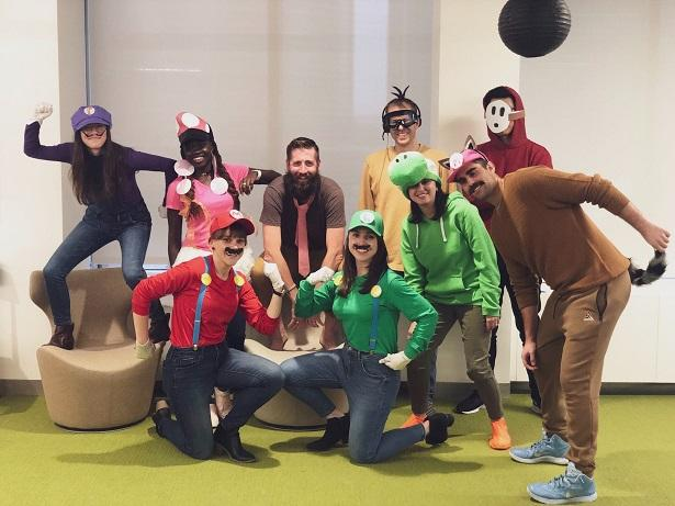 WordStream's design team in Halloween costumes