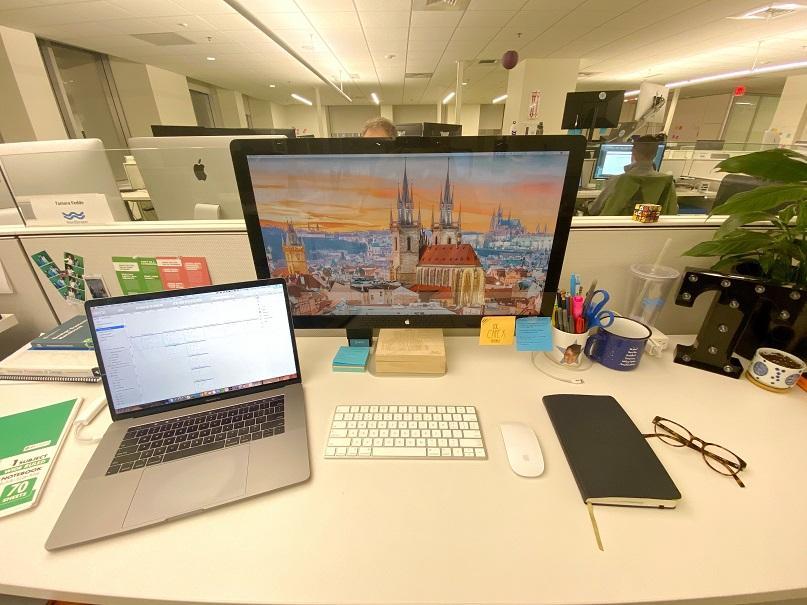 Tamara's desk