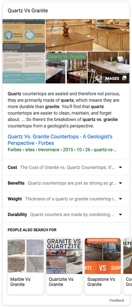 Expandable Featured Snippets Example