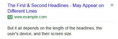 headline two expanded text ads