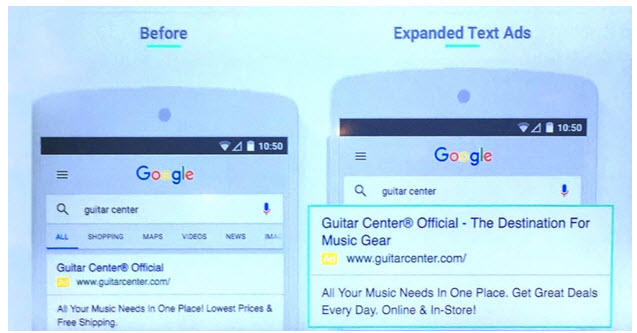 before and after expanded text ads