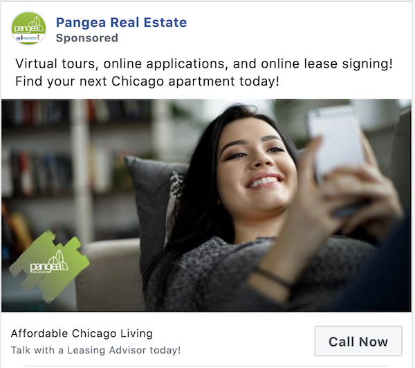 facebook click to call ads example