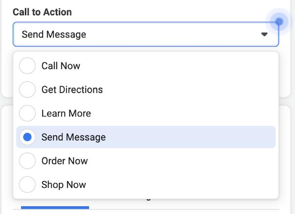 facebook local awareness ads call to action