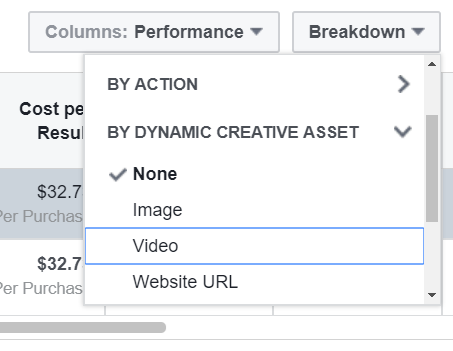 comparing variables in facebook dynamic ad creative