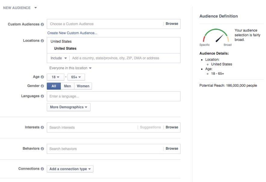 facebook ad targeting guidelines cheatsheet