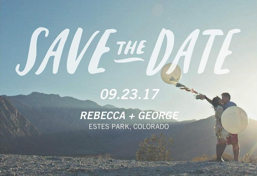 example save the date