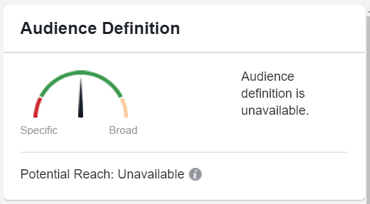 facebook dynamic ad creative audience size gauge
