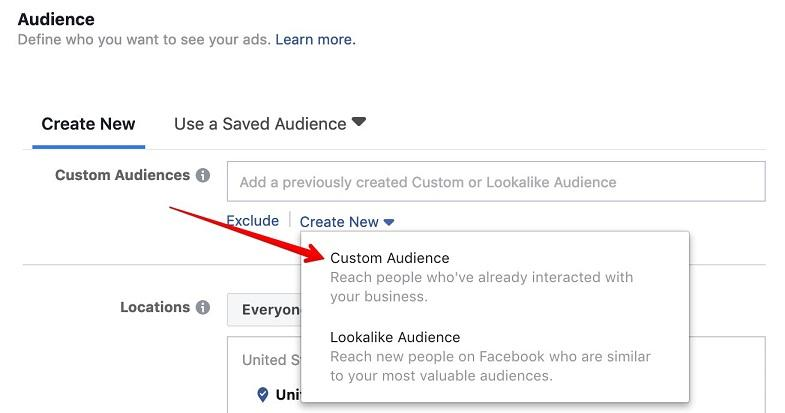 creating a Facebook audience with email list