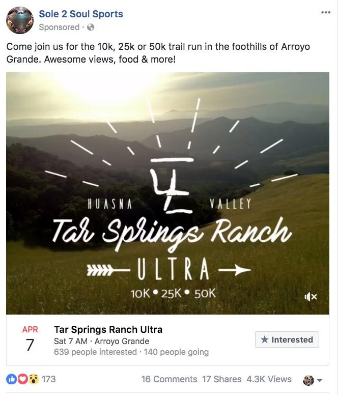event ad with location mountain background