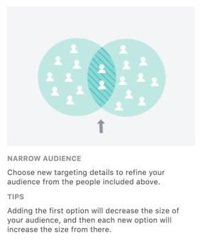 Facebook advertising's narrow audience option
