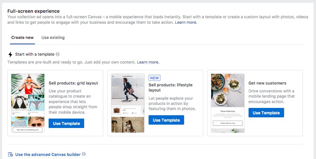 Facebook Canvas Ads Template
