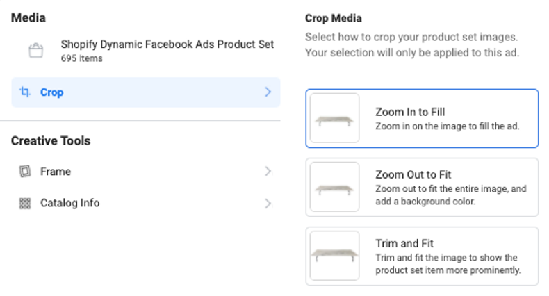 facebook dynamic product ads media