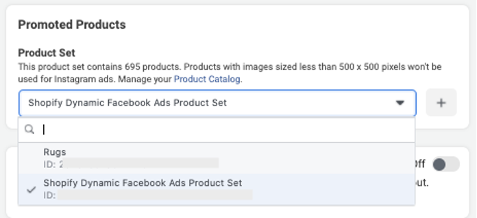 facebook dynamic product ads product sets