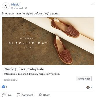 Facebook ecommerce conversion campaign ad