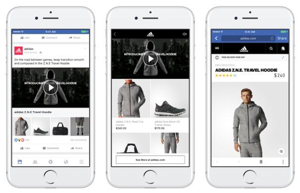 Facebook collections ad example