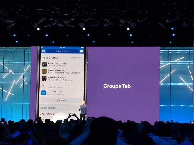 facebook groups tab
