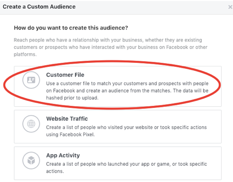 Facebook Lead Ads vs. Landing Pages Customer File