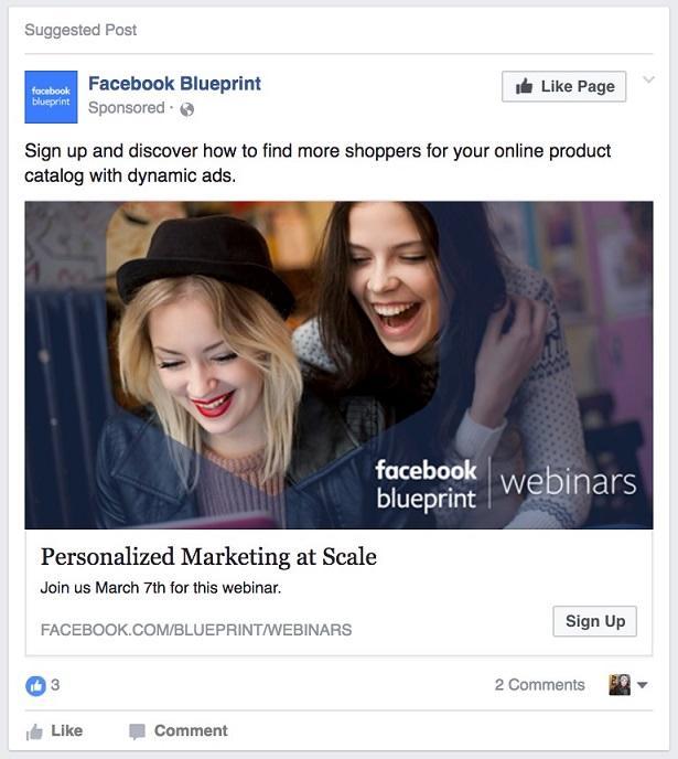 Promoción de eventos de Facebook Lead Ads.