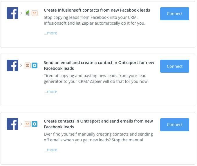 Facebook lleva anuncios de Zapier