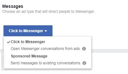facebook messenger ads varieties illustrated