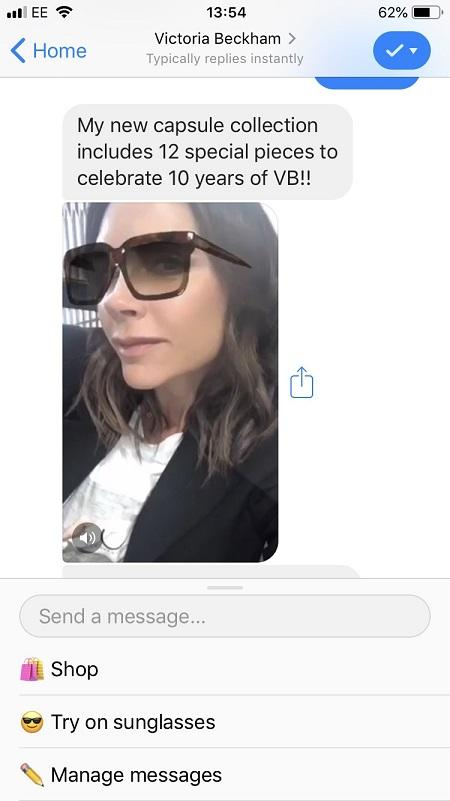 Facebook messenger bots augmented reality
