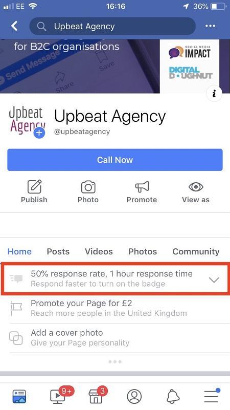Tasa de respuesta de Facebook Messenger Bots