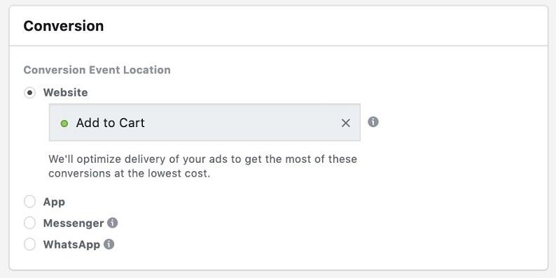 "Facebook sales funnel ""add to cart"" campaign"