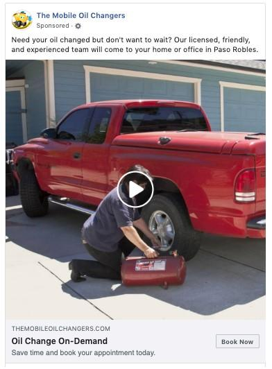 Facebook Slideshow Ad with bold color example