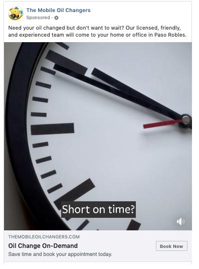 Facebook Slideshow Ad with overlay text