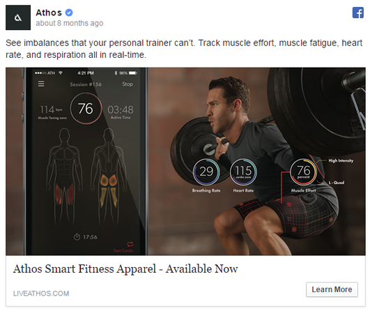facebook traffic ad best practices ad example