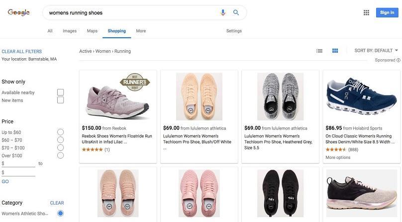 sneaker google shopping network