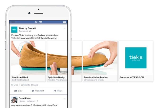 Carousel ads on Facebook