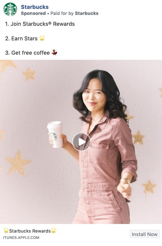Starbucks ad with Boomerang-style video