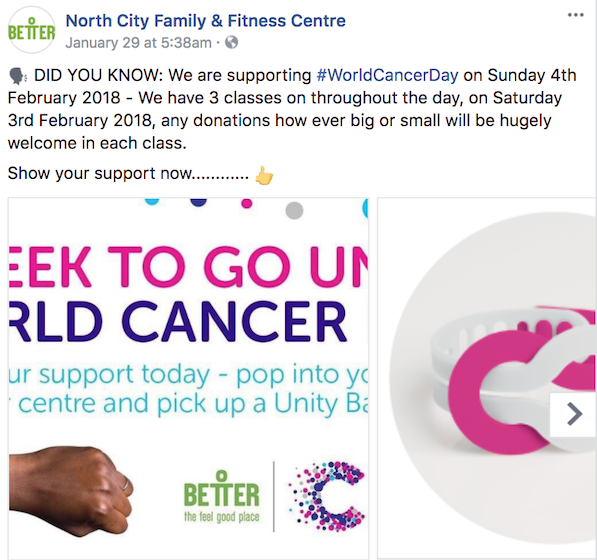 february facebook ideas world cancer day