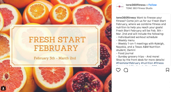 february marketing ideas fresh start february1