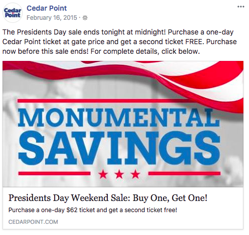 february marketing ideas presidents day sale