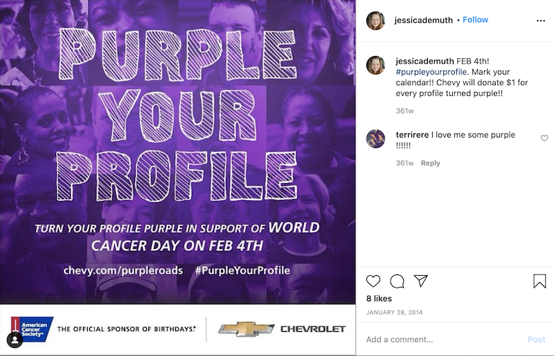 february marketing ideas purple your profile