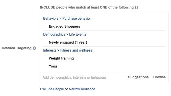Facebook targeting for fitness marketing