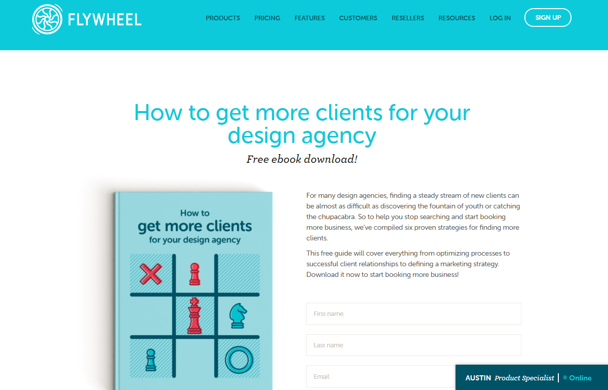 flywheel landing page example