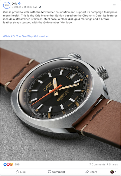free november marketing ideas oris movember