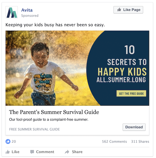 free and low cost facebook ad creative tools—ad using stock images